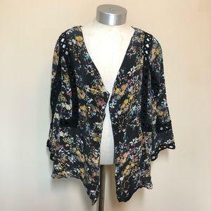 Anthropologie Meadow rue cassia silk kimono